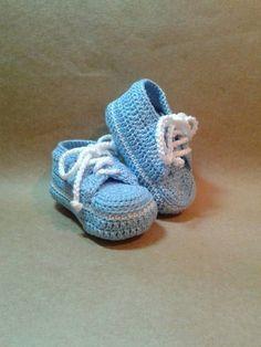 Como Fazer Tênis de Crochê Para Bebê (8)