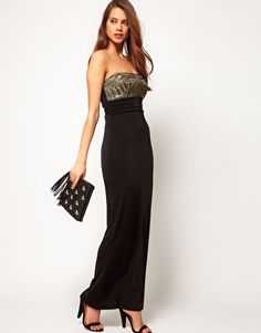 Enlarge Lipsy Bandeau Maxi Dress with Embellishment