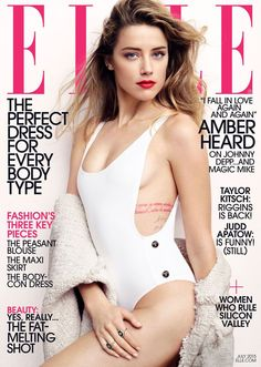 Amber Heard by Liz Collins for Elle, July 2015.