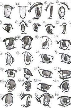 Como fazer olho de anime