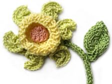 Flowers and butterflies knitting patterns in diagram