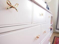 E-Design Reveal Photos: Girly Chinoiserie Nursery — Sarice Amiee Interiors Baby Room Decor, Nursery Room, Girl Nursery, Girl Room, Gold Dresser, Dresser Knobs, Big Girl Bedrooms, Girls Bedroom, Master Bedroom