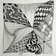 Zentangle®-Kachel von Anya Lothrop, CZT http://www.zentangle-hamburg.de