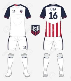 soccer jersey template Set Of United States Of America Soccer Kit Or Football Jersey . Soccer Kits, Football Jerseys, Sports News, Jersey Designs, Side View, Diy, United States, Events, America