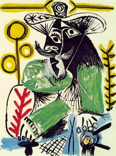 Pablo Picasso. Homme assis 4. 1969