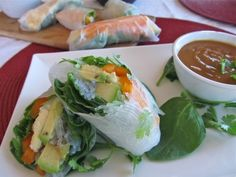 Fresh spring rolls (video shows rolling - looks easy) Tip for keeping spring rolls: line a resealable container with dampened kitchen cloth or paper towel…lay out the rolls and depending on the depth of your container you may be able to stack several layers so long as you use more dampened paper towels in between. Lay one across the top row, use a sheet of plastic wrap to seal it all in then snap your lid on to the container.