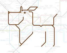 hidden animals in London underground map!
