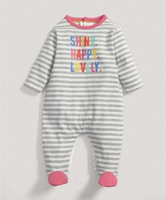 Baby Girl Mix and Match Slogan All in One - All In Ones - Mamas & Papas
