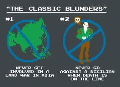 The Classic Blunders T-Shirt by SnorgTees. The princess bride The Princess Bride, Princess Bride Quotes, Golf Humor, Great Movies, Movie Quotes, Lyric Quotes, Quotes Quotes, Memes, Funny Tshirts