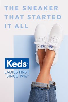 Talk about iconic. As the first sneaker made for women, Keds' Champion sneaker ignited a style revolution when it made its debut in 1916. Finally, women had fashionable, accessible footwear that they could really move around in. Today, its instantly recognizable design, goes-with-everything style, and sublime comfort has earned it must-have status among the fashion set across the globe.