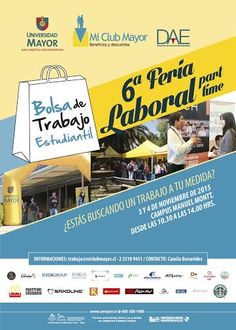 Feria de trabajo part time 3 y 4 de Noviembre