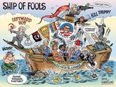 """Ship of Fools"" Ben Garrison Cartoons -  http://grrrgraphics.com/index.html"