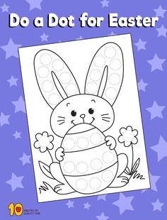 Do a Dot for Easter Easter Arts And Crafts, Egg Crafts, Spring Crafts, Crafts To Do, Dot To Dot Printables, Easter Printables, Petite Section, Do A Dot, Projects For Adults