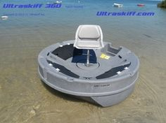 The Ultimate Portable Round Boat. The Ultraskiff 360 is the first, original and only patented design of a round Watercraft for fishing, hunting and pleasure boating. Fishing Pole Holder, Kayak Fishing, Fishing Tips, Fishing Boats, Fishing Stuff, Fishing Tackle, Cool Boats, Small Boats, Fishing Equipment For Sale