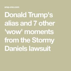 Donald Trump's alias and 7 other 'wow' moments from the Stormy Daniels lawsuit In Law Suite, Hush Hush, Donald Trump, Politics, Relationship, In This Moment, Donald Trumph, Relationships, Political Books
