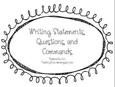 Free!  Writing Statements, Questions and Commands