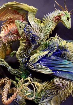 These are made of polymer clay and HAND FREAKING PAINTED. Dang, I love talented people.