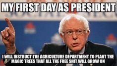 Funny Bernie Sanders Memes: Sanders's First Day as President