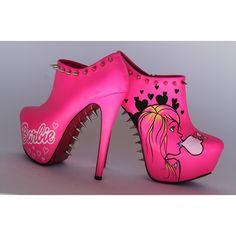 Barbielicious OCD Barbie Heels ($190) ❤ liked on Polyvore