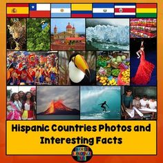 Spanish Speaking Countries PowerPointPhotos, interesting facts, classroom decorations for each of the 21 Hispanic countries.This Hispanic…