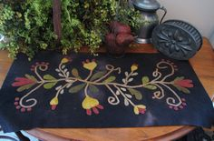 Goos Nest Vines from the Heart Wool Applique Pattern