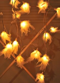 1 Set of 20 White Color Fluffy Fur Soft Lighting String Lights Set Lamp Decoration Patio Home Living Room Yard Garden Indoor and Outdoor for Birthday Christmas New Year Wedding Anniversary Ceremony Graduation Valentine Party *** You can get more details by clicking on the image. (Note:Amazon affiliate link)
