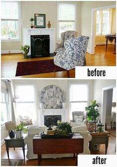 Lovely sitting room makeover. A must see & a MUST pin!!