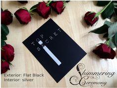 Laser cut spy james bond party wedding theme by ShimmeringCeremony