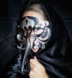 Raven/Crow Leather Mask by SETdesign