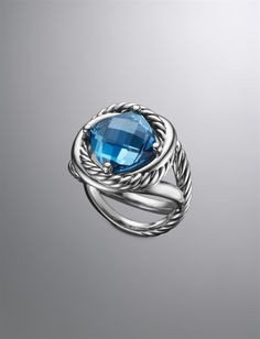 David Yurman Infinity Ring, London Blue Topaz