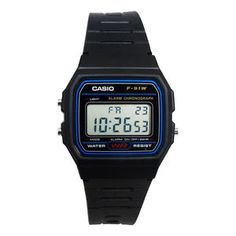 #ebay Casio F91W-1 Classic Water Resistant LCD Digital Black Wrist Watch w/ Resin Band - $9.79 (save 48%) #casio #watches #wristwatches