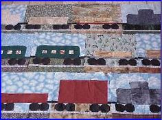 The Block of the Month project for our group is a train quilt.  It was designed by Russ and Linda Wood.  All patterns and instructions are here!  A great detailed quilt for the ferroequinologist in your life.