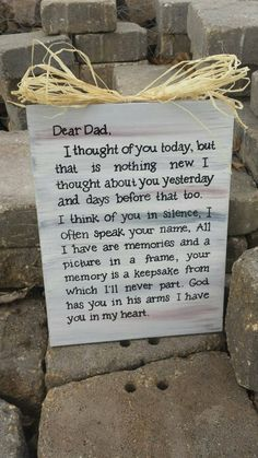 Dad Memorial Sign Plaque by OverwhelmedByLove on Etsy More