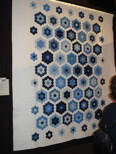 Lovely blue/white hexagons!