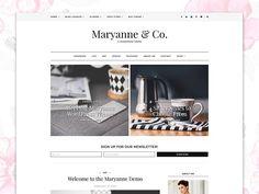 WordPress theme Responsive -Maryanne by Georgia Lou Studios on @creativemarket