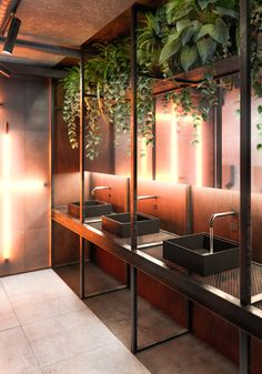 Copper Copper on Behance Restaurant Interior Design, Office Interior Design, Bathroom Interior Design, Office Interiors, Interior And Exterior, Design Café, Cafe Design, House Design, Residential Architecture