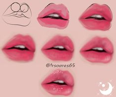 "How to Draw ""Lips Tutorial"" - How to Draw ""Lips Tutorial"" Make those lips luscious and sweet in MediBang Paint! Digital Painting Tutorials, Digital Art Tutorial, Art Tutorials, Drawing Tutorials, Digital Paintings, Drawing Tips, Mouth Painting, Lips Painting, Prismacolor Art"