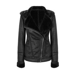 Yoins Yoins Black Coat (435 SEK) ❤ liked on Polyvore featuring outerwear, coats, jackets, yoins, leather jackets, coats & jackets, black, black leather coat, real leather coats and leather coat