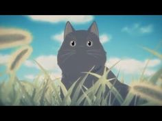 """Kanojo to Kanojo no Neko: Everything Flows - produced by Liden Films and directed by Kazuya Sakamoto - prequel of """"She and Her Cat) (彼女と彼女の猫 Kanojo to kanojo no neko - created and directed by Makoto Shinkai Neko, She And Her Cat, Princess Kaguya, Grave Of The Fireflies, Wind Rises, Makoto, Animated Cartoons, Animation Film, Giraffe"""