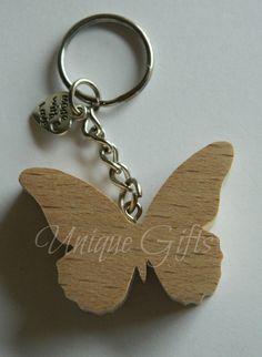 Hand Cut Butterfly Keyring. £3.60, via Etsy.