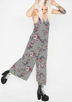 Summer Blooms Crop Jumpsuit cuz those are your favorite flowers. Watch em' bloom with this crop jumpsuit that has a floral N' stripe print all ova and a low back. #dollskill #wildflower #forloveandlemons #newarrivals #springcategory #spring