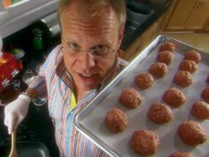 Swedish Meatballs recipe from Alton Brown via Food Network
