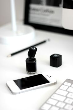 iPhone & polish..always! So me!! Addicted to both!