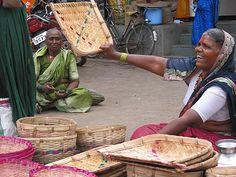 village market in india.