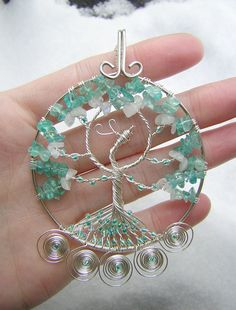 Ice Phoenix Tree of Life Wire Wrapped by RachaelsWireGarden,