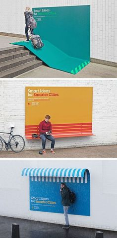 Smart ideas for Smarter cities #graphic design, its like advertising, bench and bus shelter , hello huge advertising opportunities