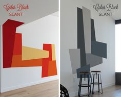 COLOR BLOCKED VÆG / WALL << on Pinterest | Geometric Wall, Color ...