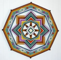 Meadow Bright an 18 inch 8sided Ojo de Dios by by JaysMandalas, $105.00