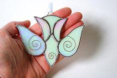 Falling Dove Suncatcher First Communion or Wedding Gift Christian Gift Fallen Dove Christmas Ornament on Etsy, $22.00
