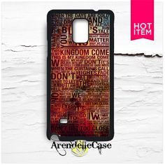 Imagine Dragons Lyric Nebula Samsung Galaxy Note 4 Case